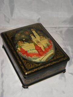 "Box ""Moscow, Kremlin"" Palekh lacquer miniature"