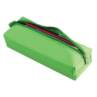 Pencil case-cosmetic bag BRAUBERG, polyester, rainbow, green, 20х6х4 cm