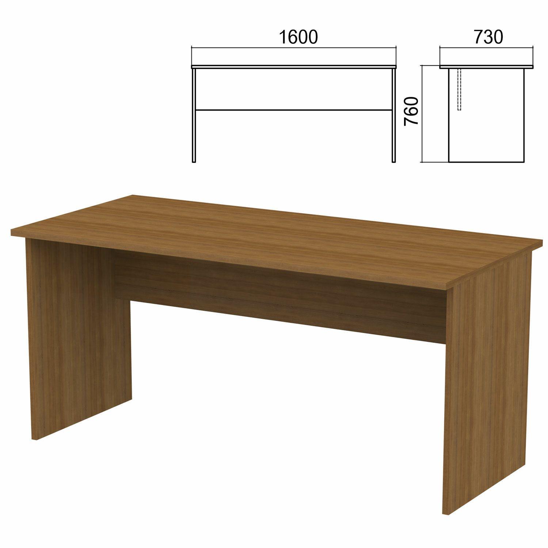 "Table written ""Argo,"" 1600 x730 x760 mm, walnut"