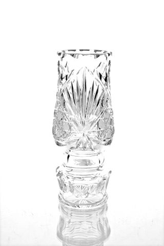 "Crystal vase for flowers ""Dubrava"" colorless"