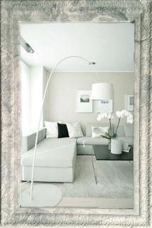 Big mirror in openwork frame marble Tuscany-vintage classic grey (grey), 110 X 80 cm