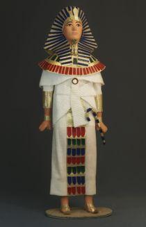 Doll gift. Pharaoh. Costume parade. Ancient Egypt. 1580-1090 BC