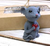 Handmade soap mouse with heart
