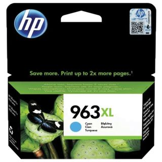 HP Inkjet Print Cartridge (3JA27AE) for HP OfficeJet Pro 9010/9013/9020/9023, # 963Xl Cyan, 1600 pages