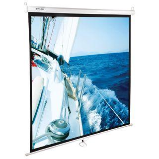 Projection wall screen (200x200 cm), matte, 1:1, BRAUBERG