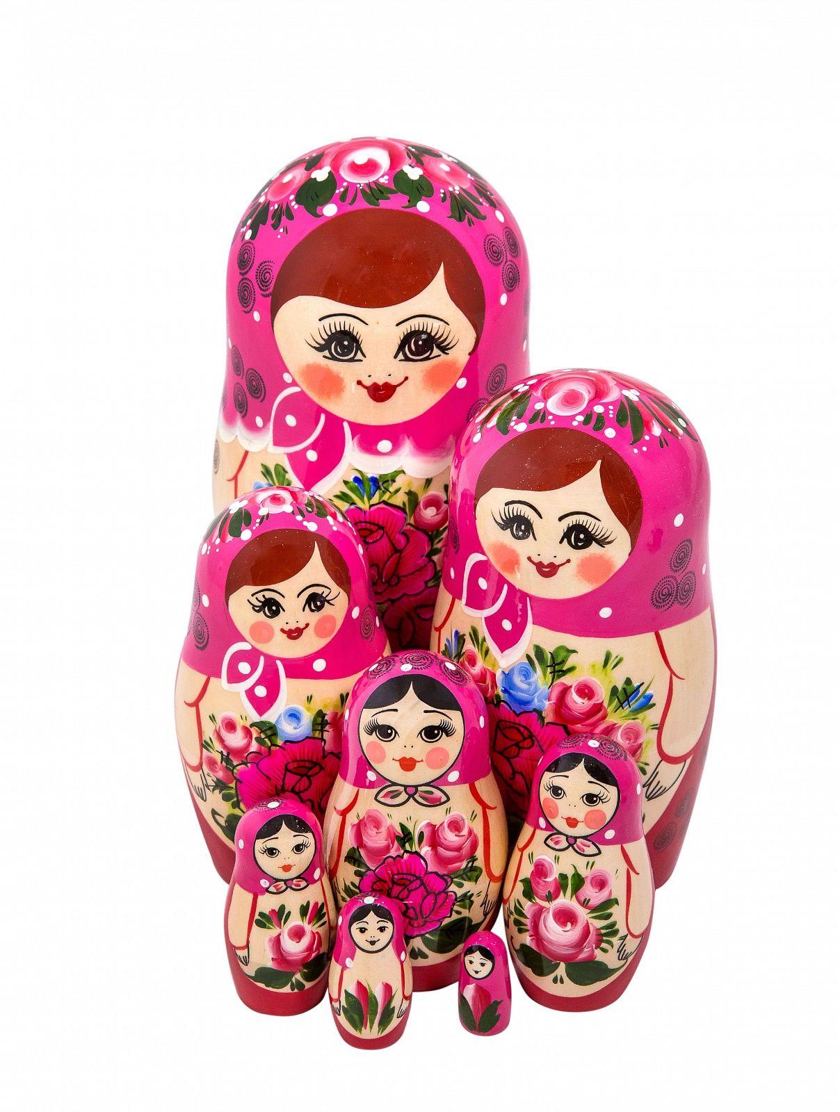 Khokhloma painting / Matryoshka non-traditional 8 dolls