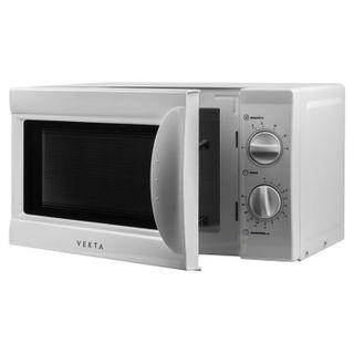 VEKTA MS720AHW microwave oven, 20 litre volume, 700 watt power, mechanical control, timer, white
