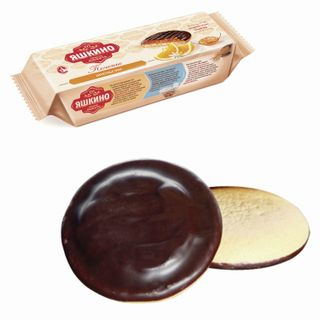 """YASHKINO / """"Orange"""" cookies, butter, with biscuit, jam and chocolate icing, 137 g"""