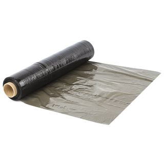 Stretch film for manual packaging 50 cm x 190 m, BLACK, 23 microns, 2 kg, recycled material, elongation 180%