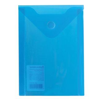 Folder-envelope with button SMALL FORMAT (105х148 mm), A6, blue, 0.18 mm, BRAUBERG