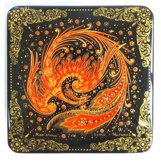 "Kholui / Box ""Firebird"" 8x8x4.5 cm"