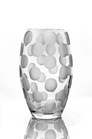"Crystal vase for flowers ""Dolce Vita"" matte peas"