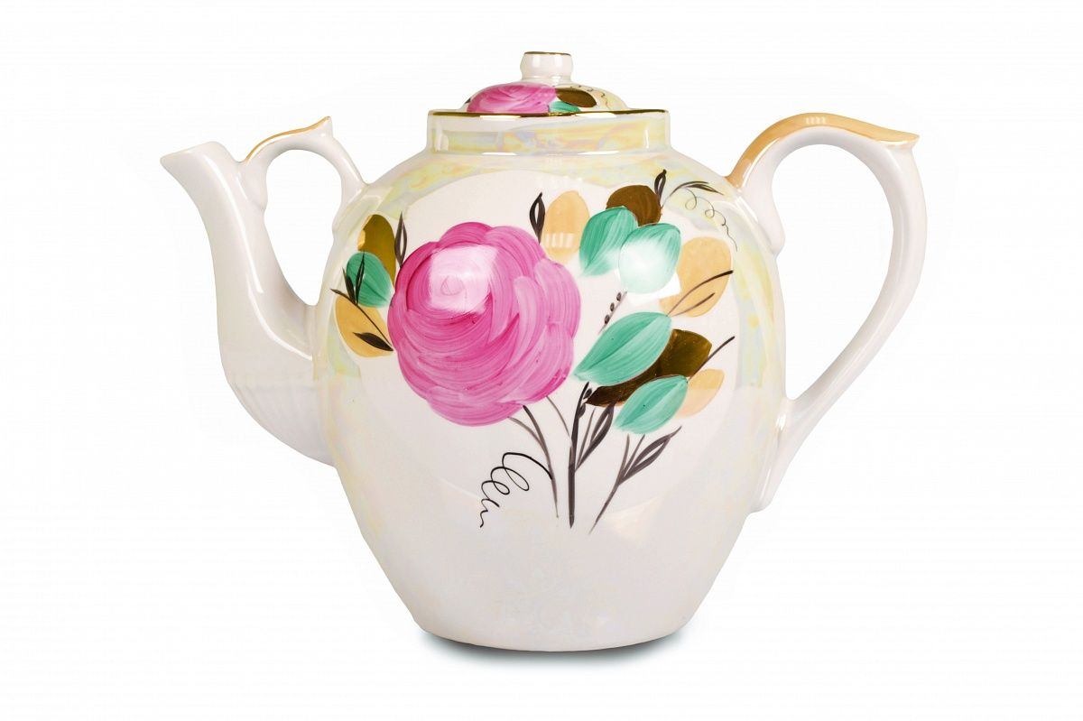 Dulevo porcelain / Teapot 4500 ml Rose