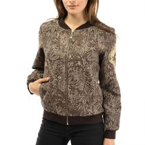 Jacket women's 'Renaissance' brown with gold embroidery
