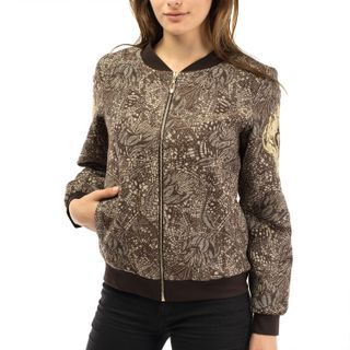 "Jacket women's ""Renaissance"" brown with gold embroidery"