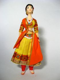 Doll gift. The dancer's costume