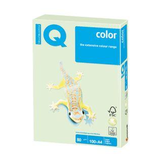IQ COLOR / A4 paper, 80 g / m2, 100 sheets, pastel light green