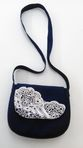 Bag trimmed with handmade lace - view 3