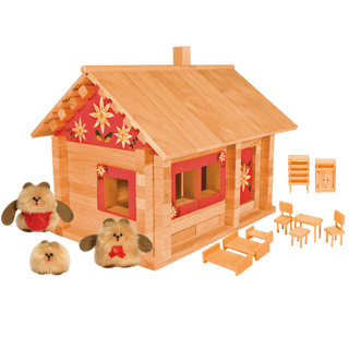 Designer Hut three bears with dolls, furniture and paintings, 139 elements, Pelsi