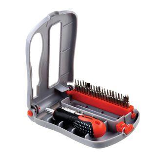 Screwdriver for precise work with nozzle set, 22 items, MATRIX Fusion, plastic foam