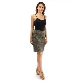 Skirt women's Renaissance green with gold embroidery
