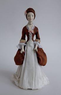 Doll gift. The maid with the letter. 18th century