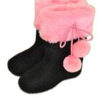 Fur boots  Baby with fur and bamboys