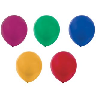 """GOLDEN FAIRY TALE / Balloons 12 """"(30 cm), SET of 10 pieces, metallic, assorted 5 colors, package"""