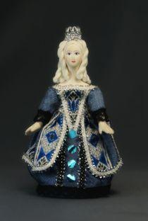 Doll pendant souvenir porcelain. Princess. Fairy tale character.