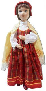 """Porcelain doll """"Latvian festive costume"""""""