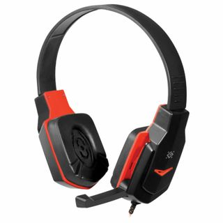 DEFENDER / Headphones with microphone (headset) Warhead G-320, wired, 1.8 m, with headband, black with red