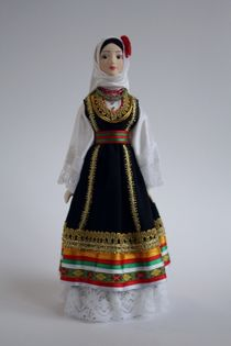 Doll gift. Women's costume. Serbia