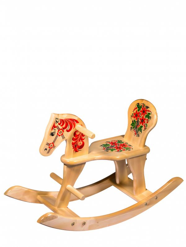 Wooden children's rocking Horse