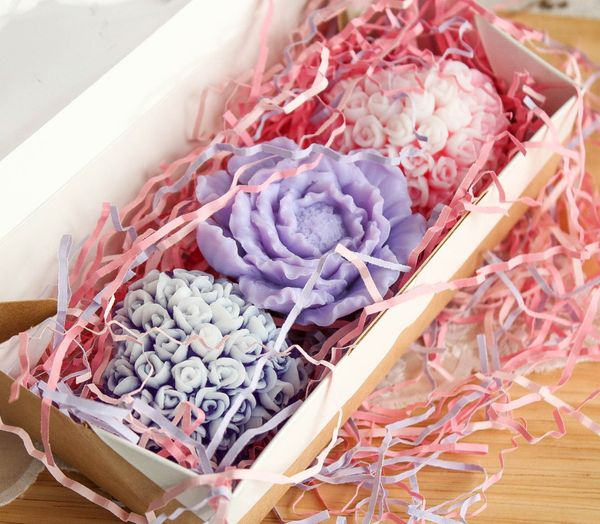 Set of handmade soap Delicate bouquet