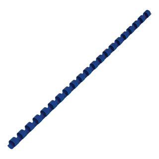 Plastic springs for binding, KIT 100 pcs., 8 mm (for stitching 21-40 liters), blue, BRAUBERG