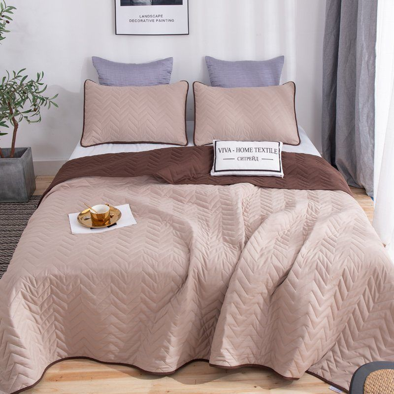 Sitrade / Set one-color double-sided bedspread and two pillowcases 50-70, ODP010