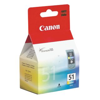 Inkjet cartridge CANON (CL-51) PIXMA MP450 / 150/170 / iP2200 / 6210D / 6220, color, original, resource 275 pages.