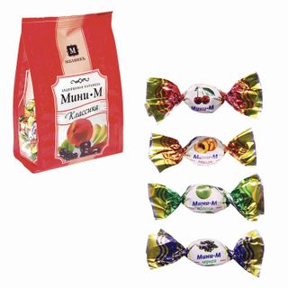 "MALVIK / Candy-caramel ""Mini-m"" Classic, lollipop, mini, assorted cherry / apple / currant / peach, 150 g"