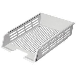 Tray horizontal paper of STAMM with grooves A4 (360х270х80 mm), mesh, grey