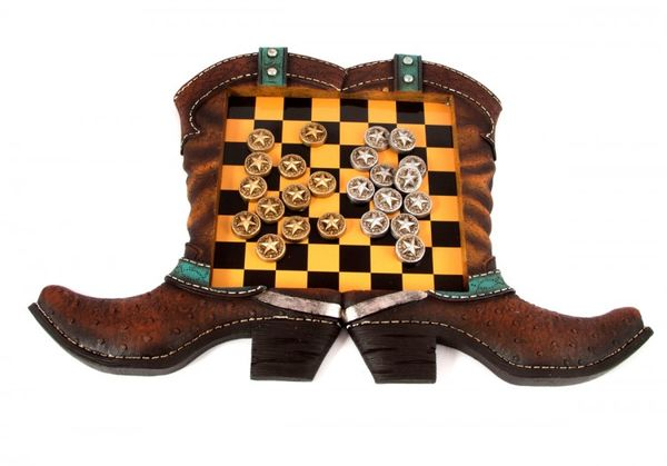 "Board game ""Checkers - Wild West"" 45х3х29 cm."