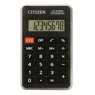 Pocket calculator CITIZEN LC310NR (114x69 mm), 8 digits, battery power