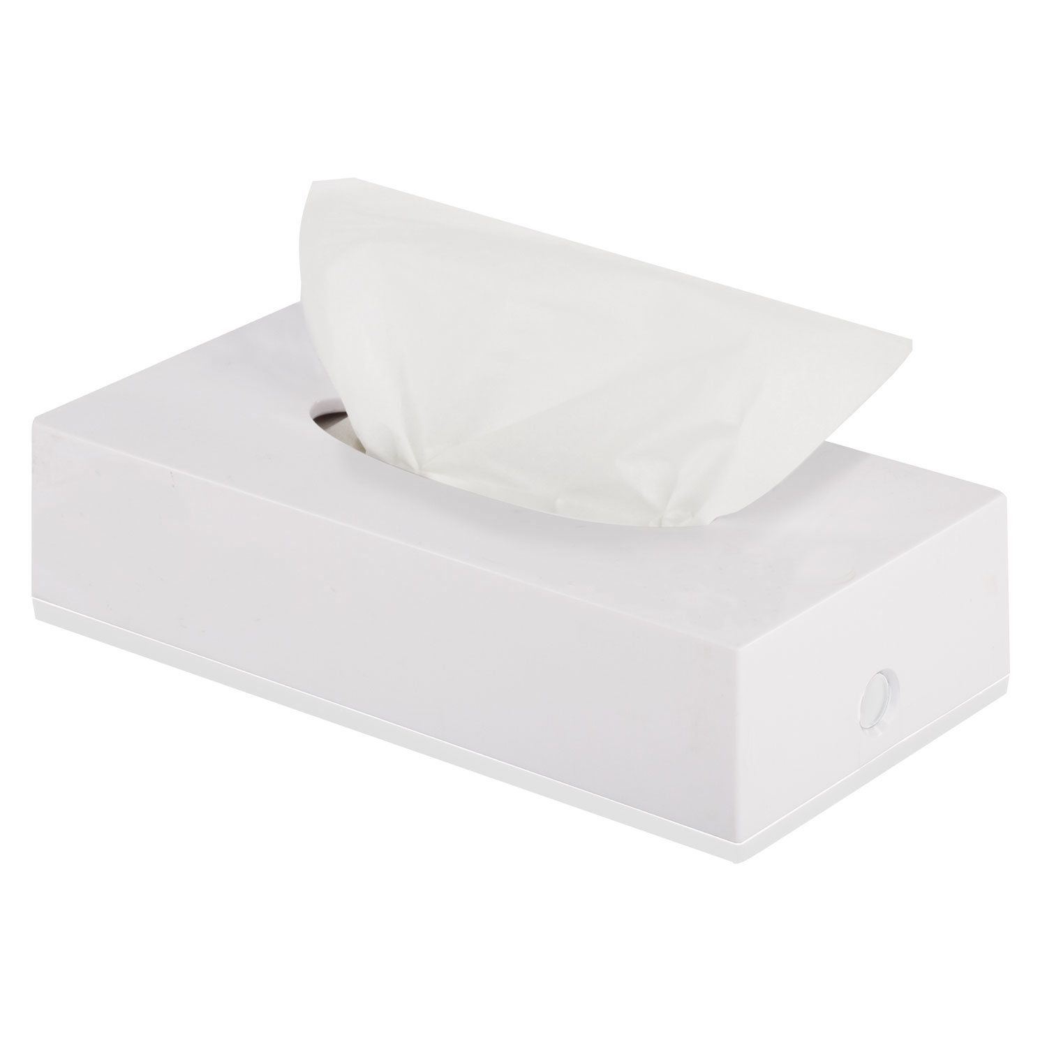 LIMA / Tabletop / wall-mounted cosmetic tissue dispenser, plastic, white