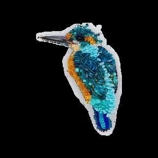 "Brooch handmade ""Blue Kingfisher"""