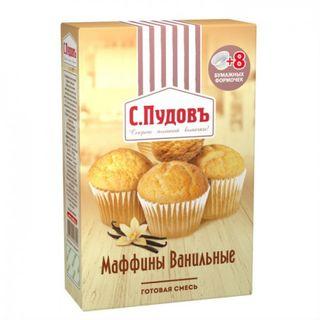 Ready baking mixture Muffina vanilla S.Pudov, 250 g