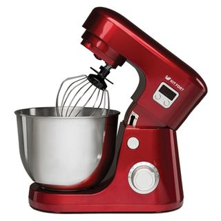 Mixer planetary KITFORT KT-1308-1, 600 W, 6 speeds, 3 nozzles, metal bowl 4.2 liters, red