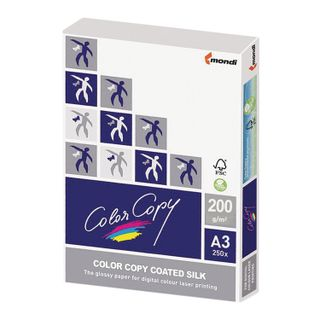 COLOR COPY / SILK paper, coated, matte, LARGE SIZE, A3, 200 gsm, 250 sheets, for full color laser printing, A ++, Austria, 139% (CIE)