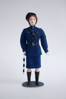 Doll gift. Traffic controller