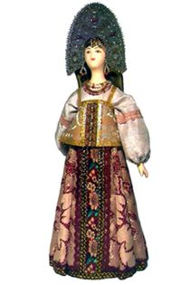 Doll gift. Russian traditional girl costume.