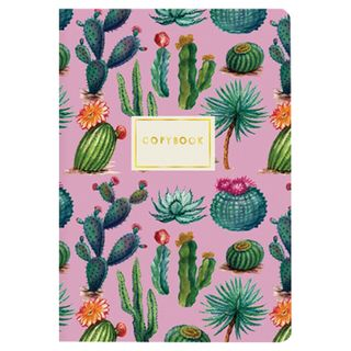 """Notebook EURO A5 40 sheets BRUNO VISCONTI stitching, cage, Soft Touch, beige paper 70 g / m2, """"CACTUS"""""""