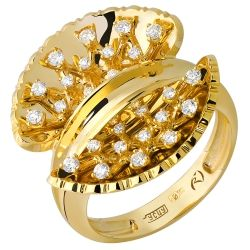 Ring of gold collection «Champagne»